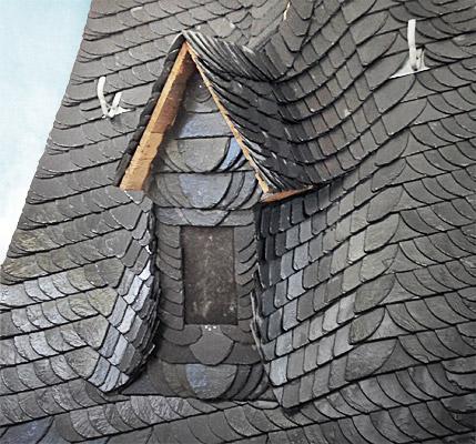 Schierferdach als Meisterstück von Dachdecker Alexander Mititelu